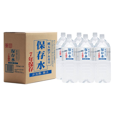 純天然アルカリ7年保存水  2Lペットボトル(6本入)