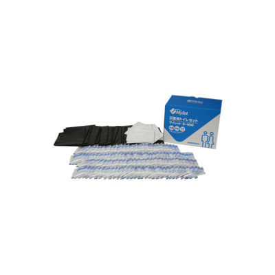 マイレットS-100 災害用トイレセット(100回分) -企業・自治会備蓄向け簡易トイレ処理セット-